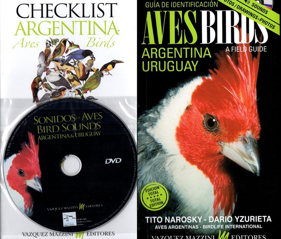 Tapa libro guía de aves de la argentina